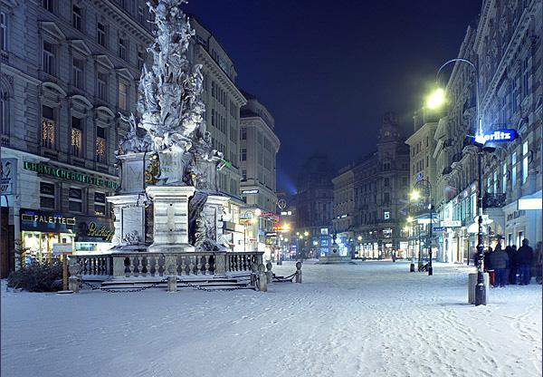 Австрия Вена Снег